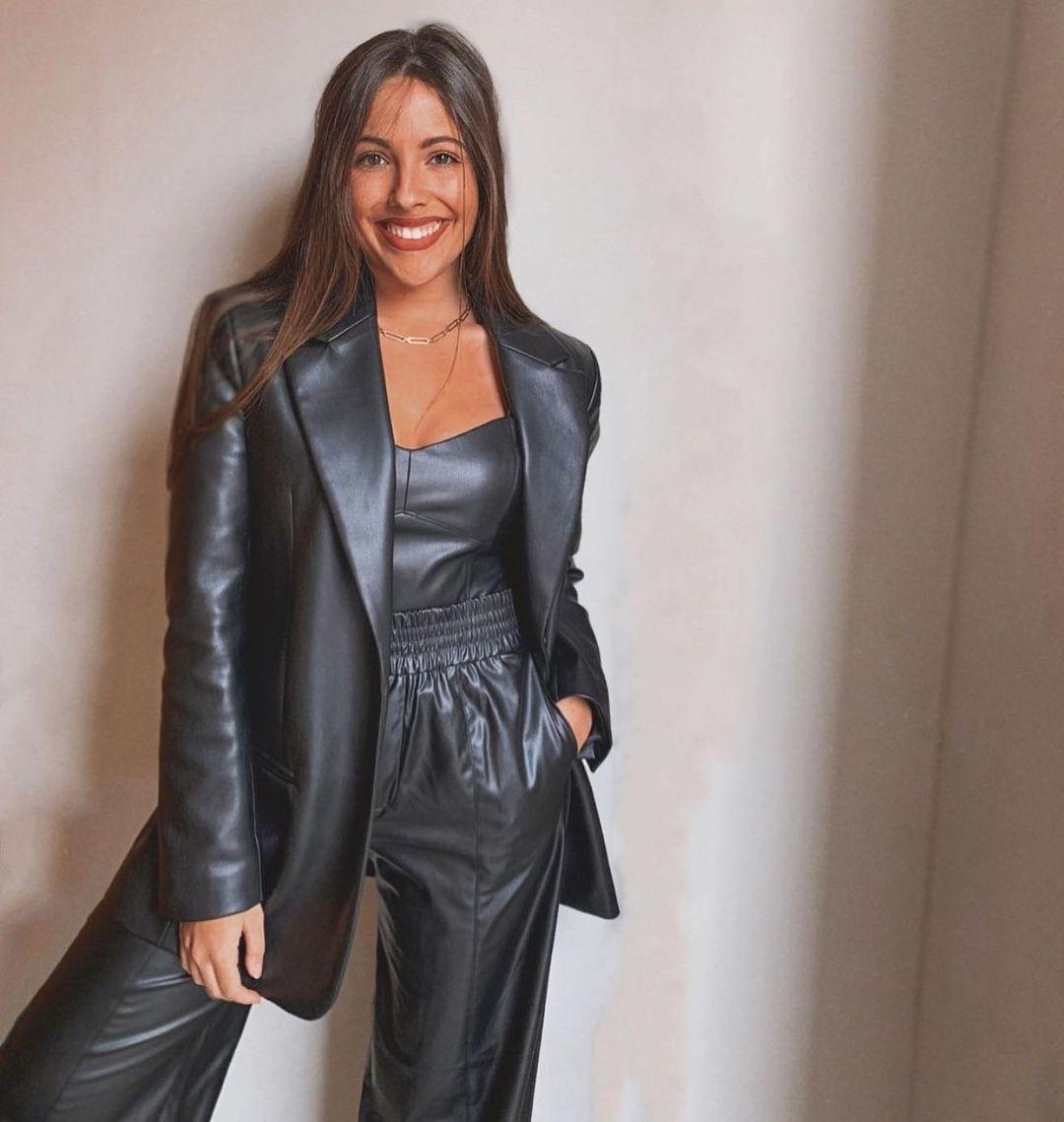 veste droite en cuir synthétique de Zara sur zara.outfits