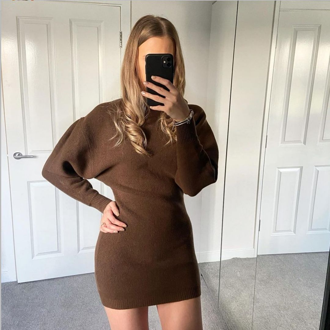 loose knit dress de Zara sur zara.style.daily