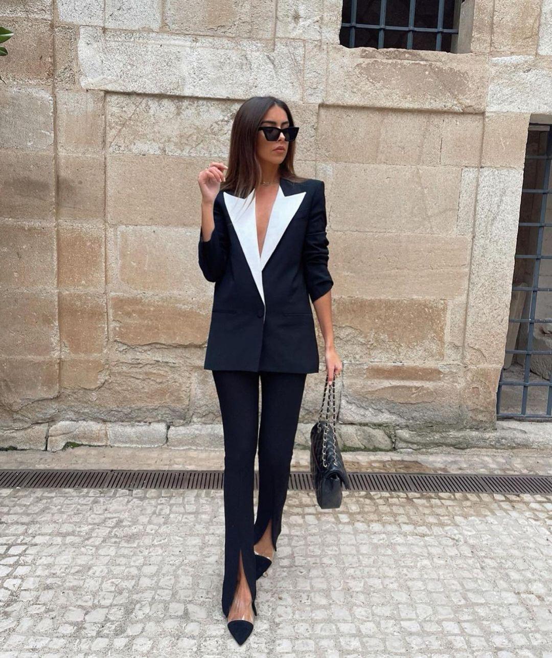 matching lapel jacket de Zara sur zaraaddiction