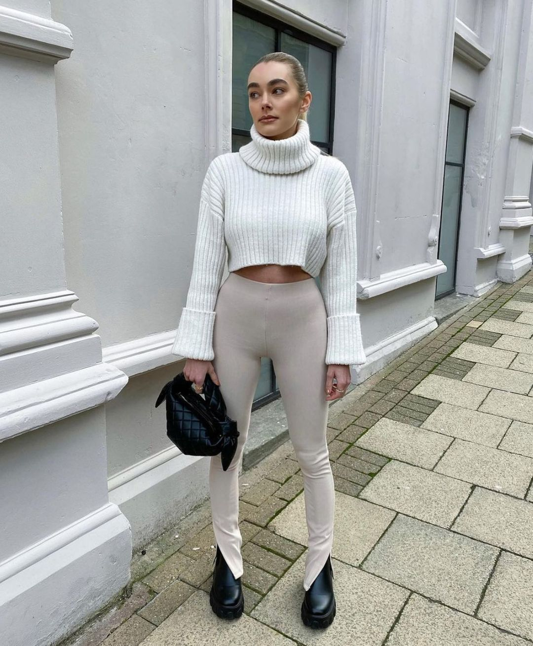 front slit ribbed leggings de Zara sur zara.style.daily