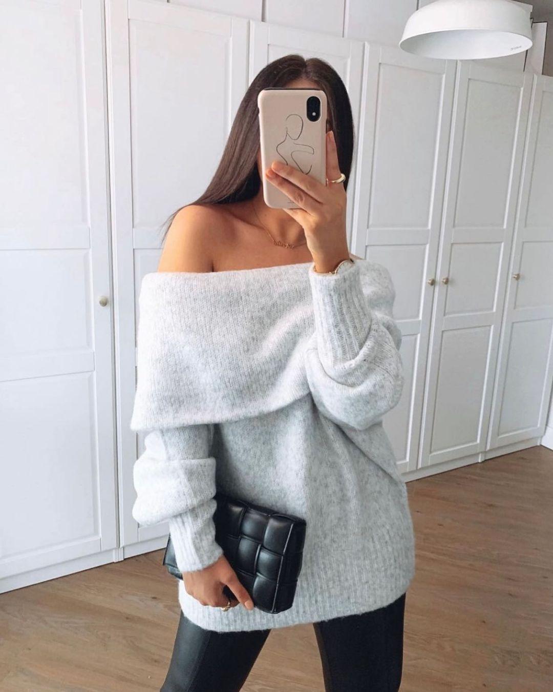 off-the-shoulder jumper de H&M sur hm.addicted