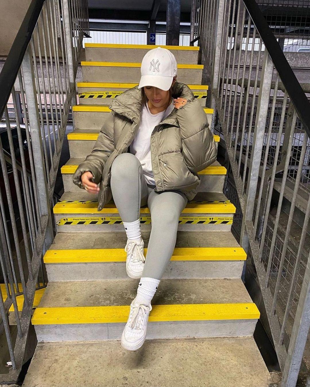 stand-up collar puffer jacket de H&M sur hm.addicted