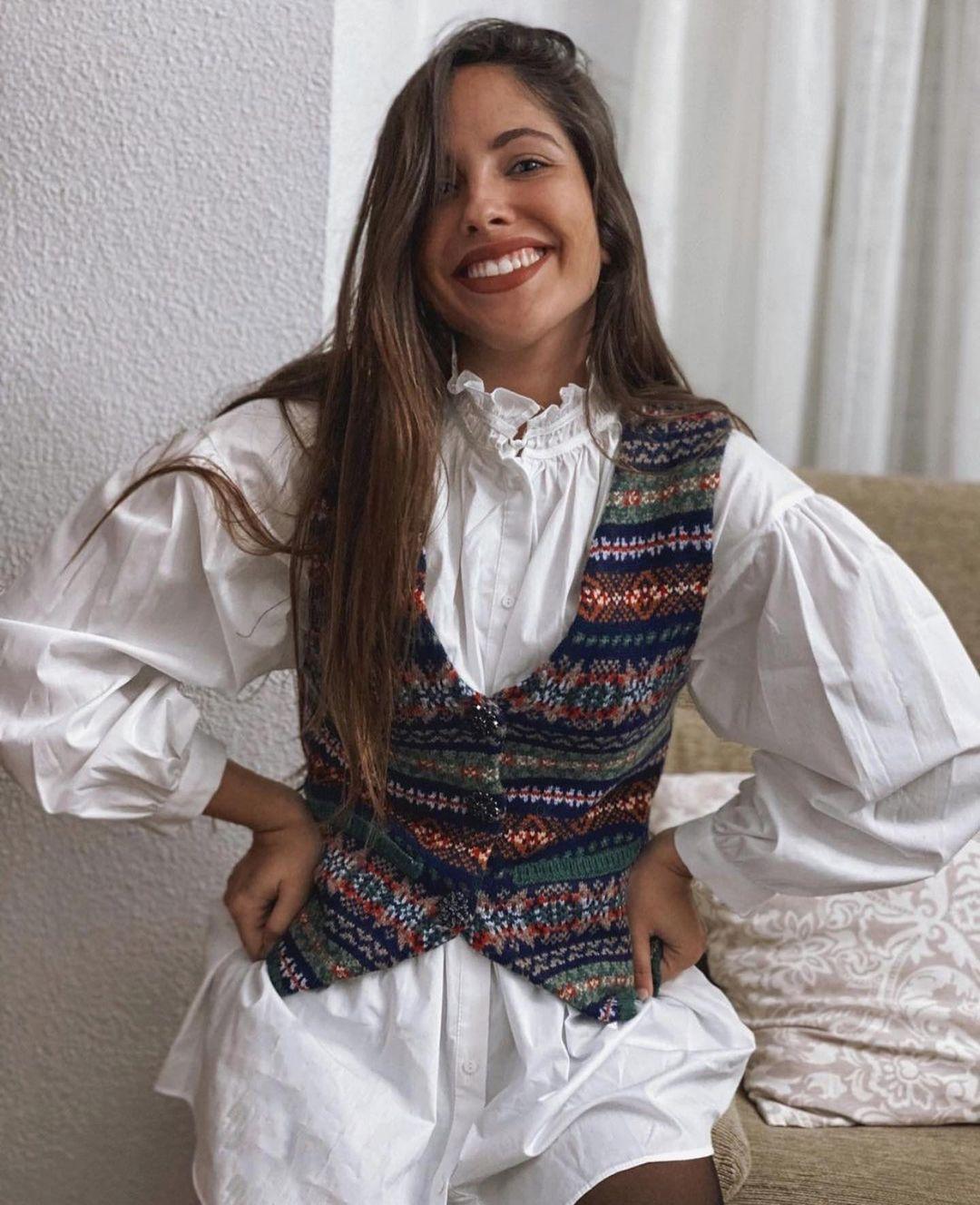 gilet sans manches en maille jacquard de Zara sur zara.outfits