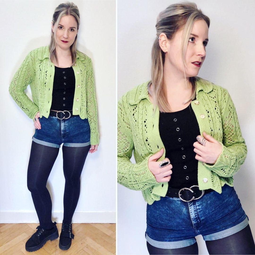 pointelle knit vest de Zara sur ixelloisechic