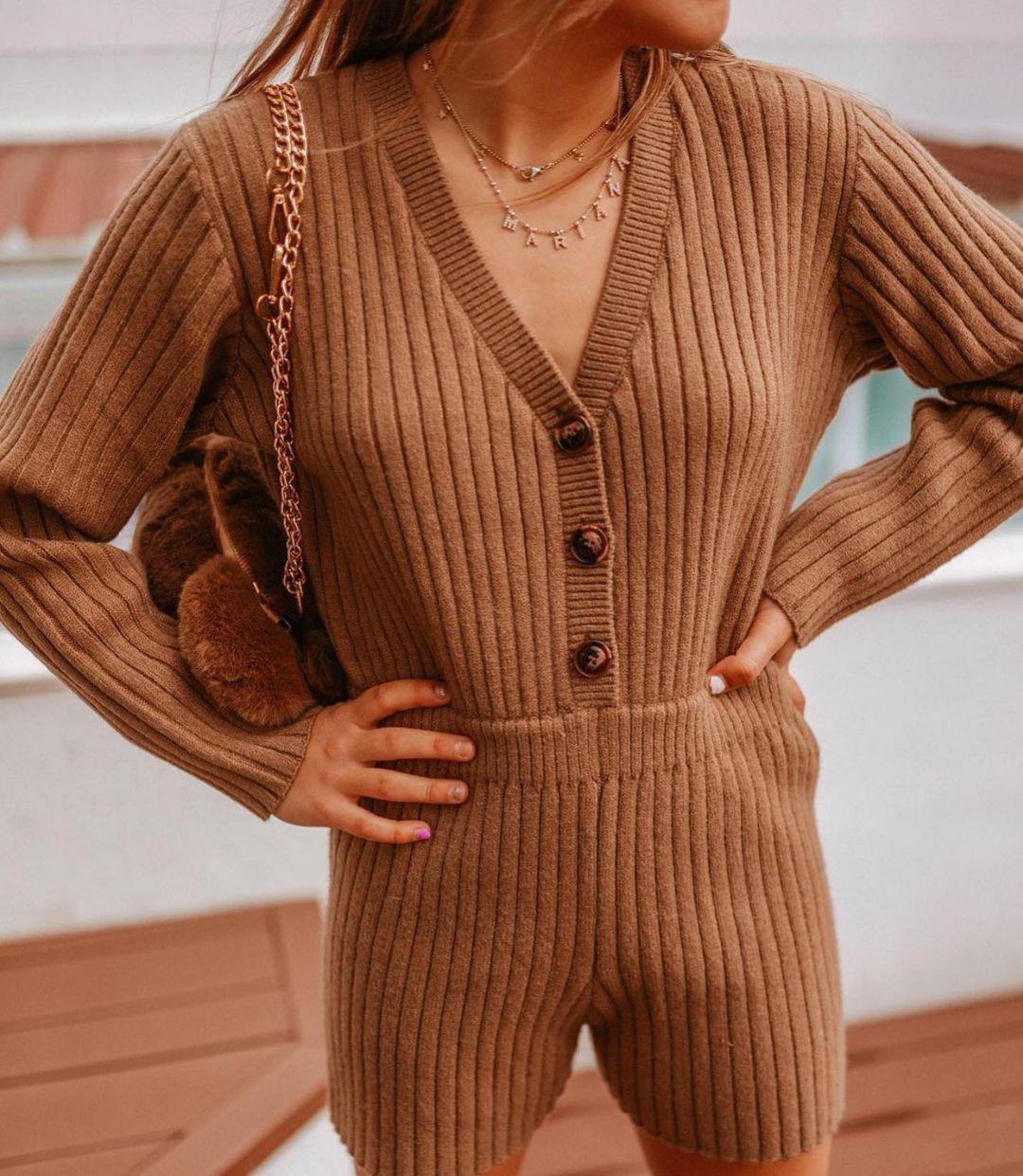 short knitted jumpsuit de Zara sur zaraaddiction