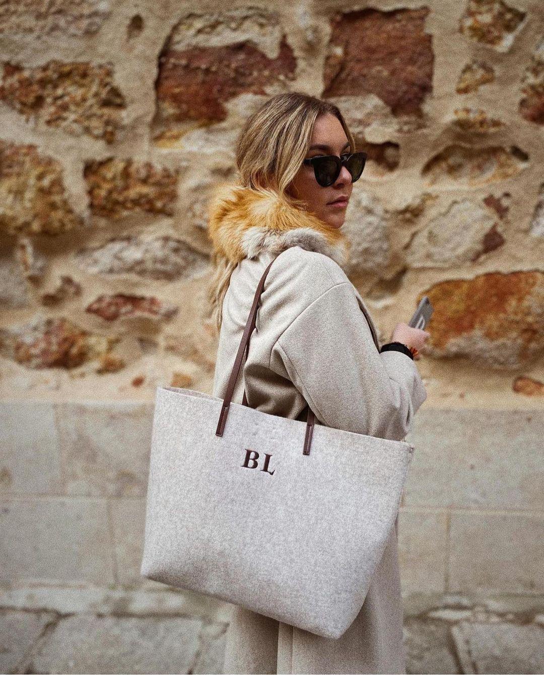 sac shopper en feutre de Zara sur zara.outfits