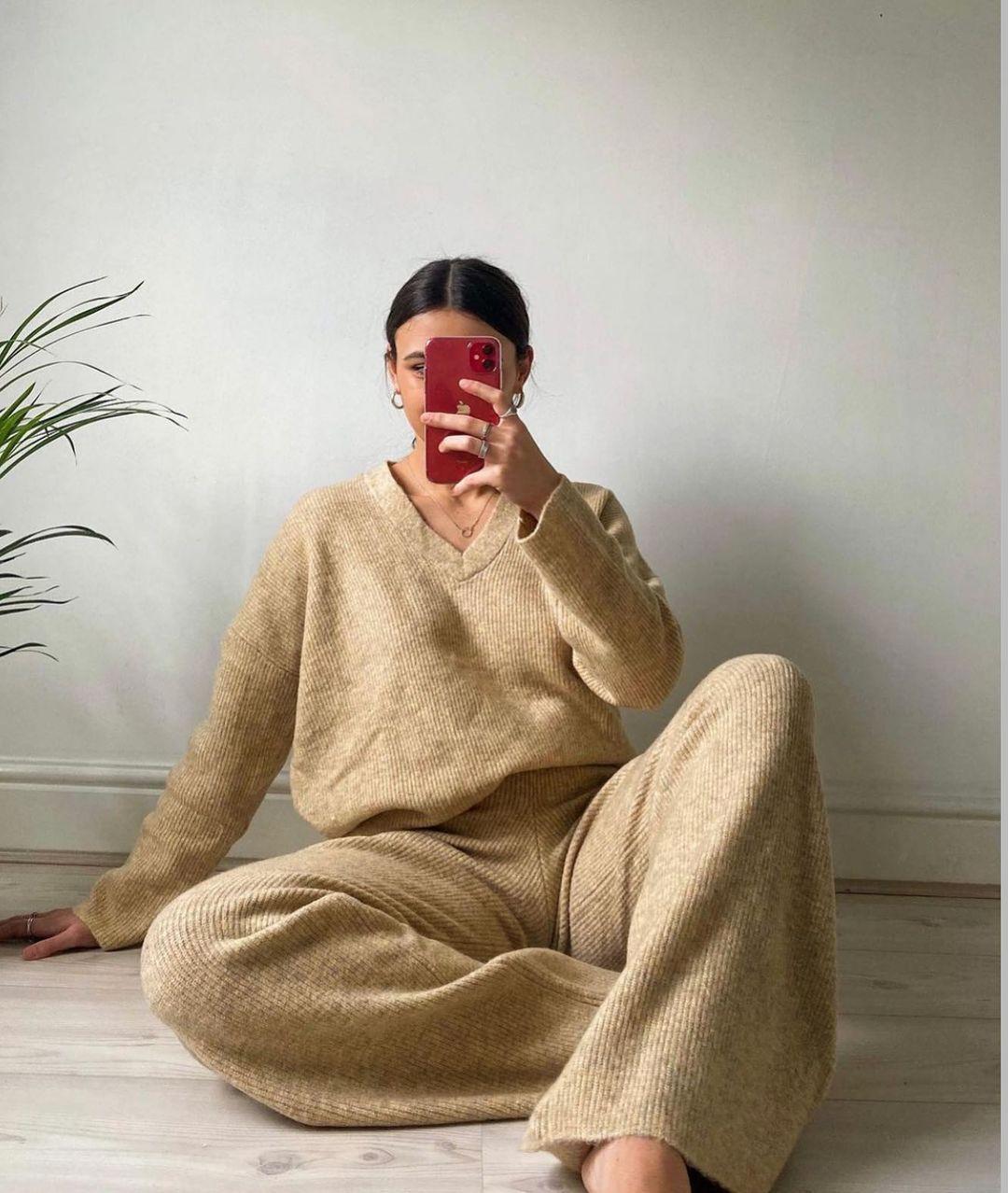 knit culottes de Zara sur zara.style.daily