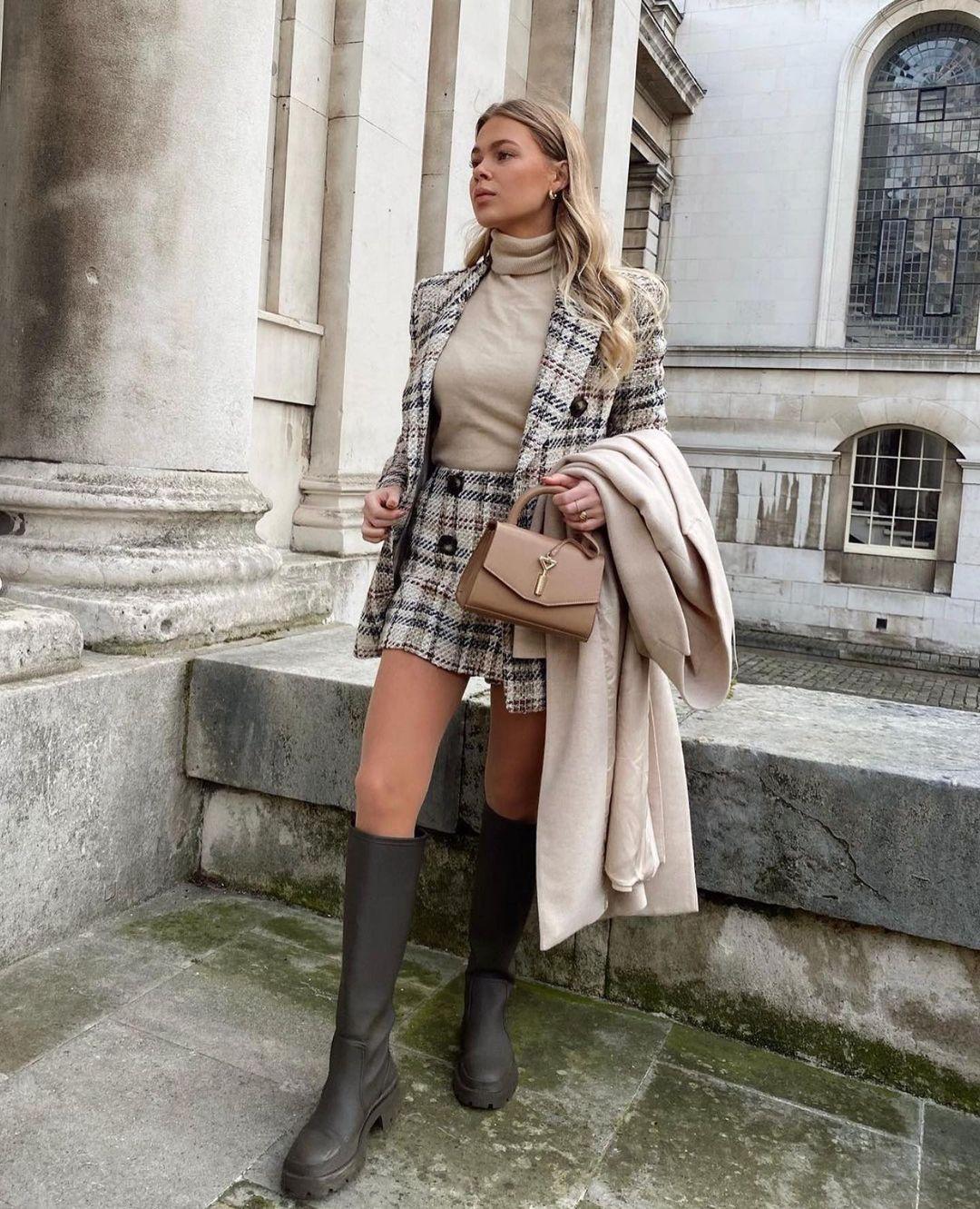 veste structurée à carreaux de Zara sur zara.outfits