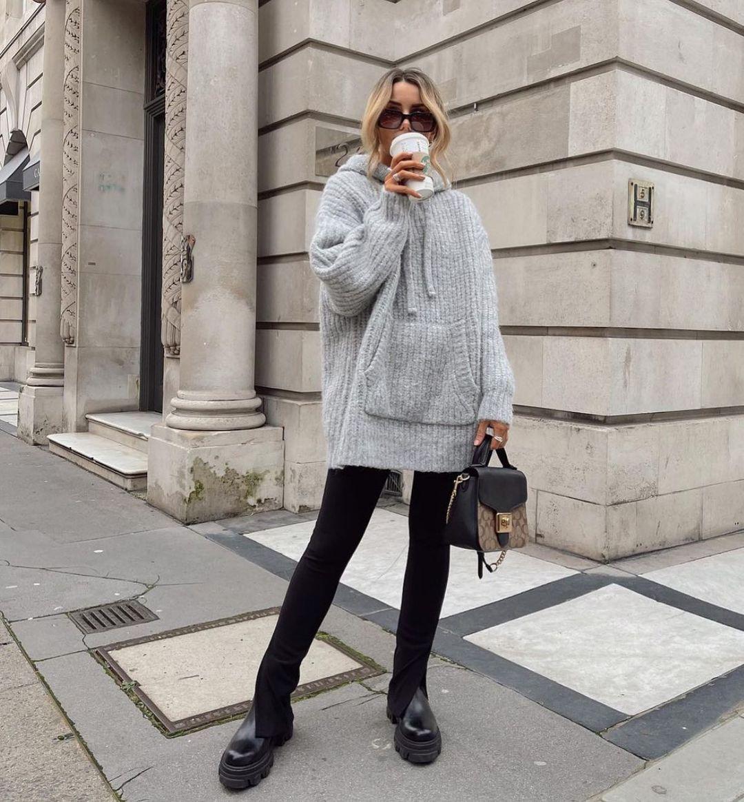 flared ribbed leggings de Zara sur zara.style.daily