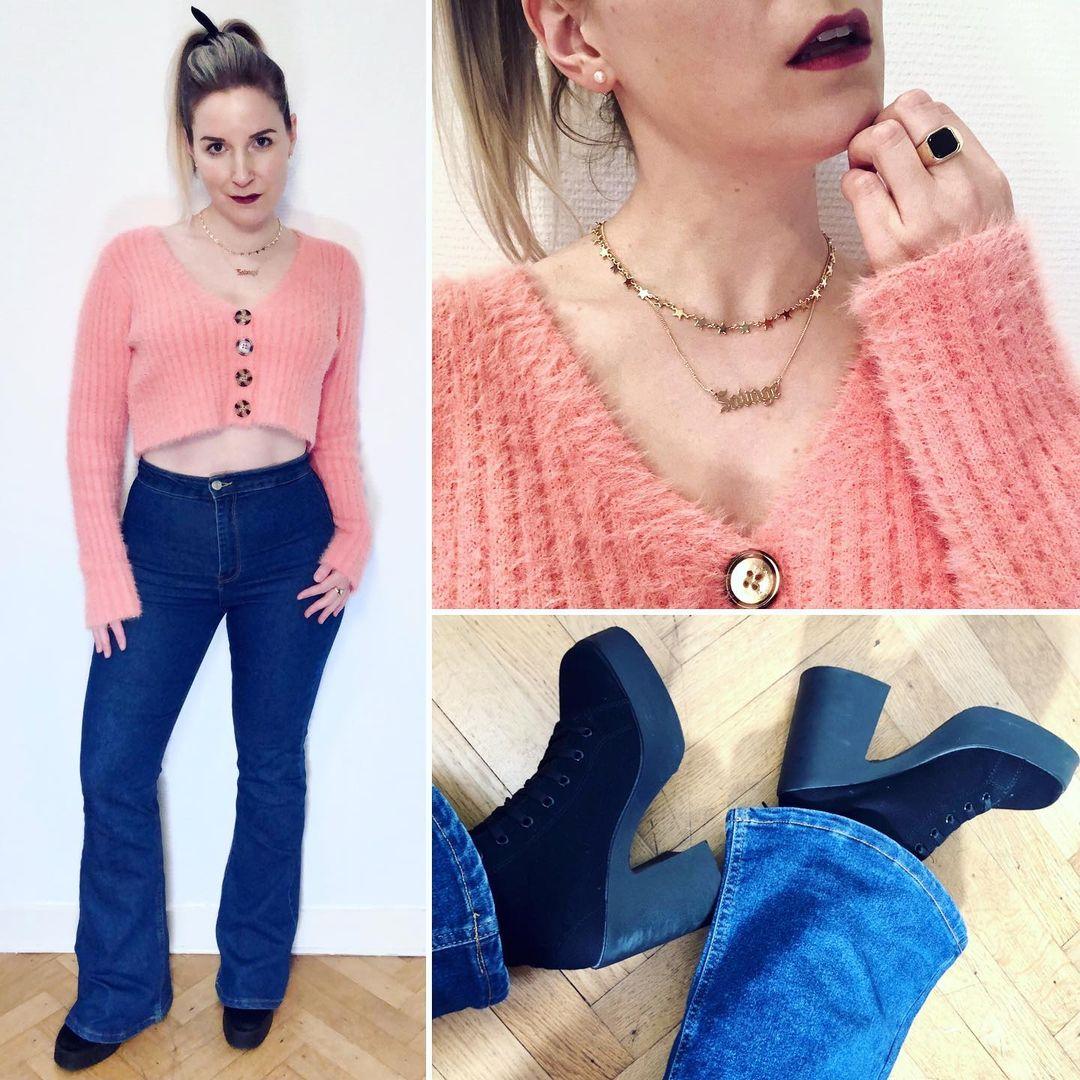 flare jeans de Bershka sur ixelloisechic