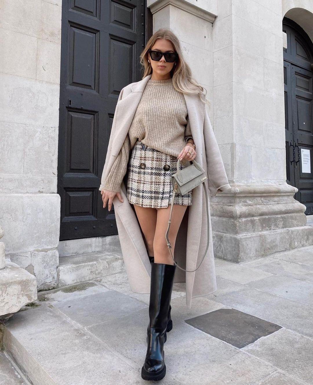 jupe-short structurée de Zara sur zara.outfits