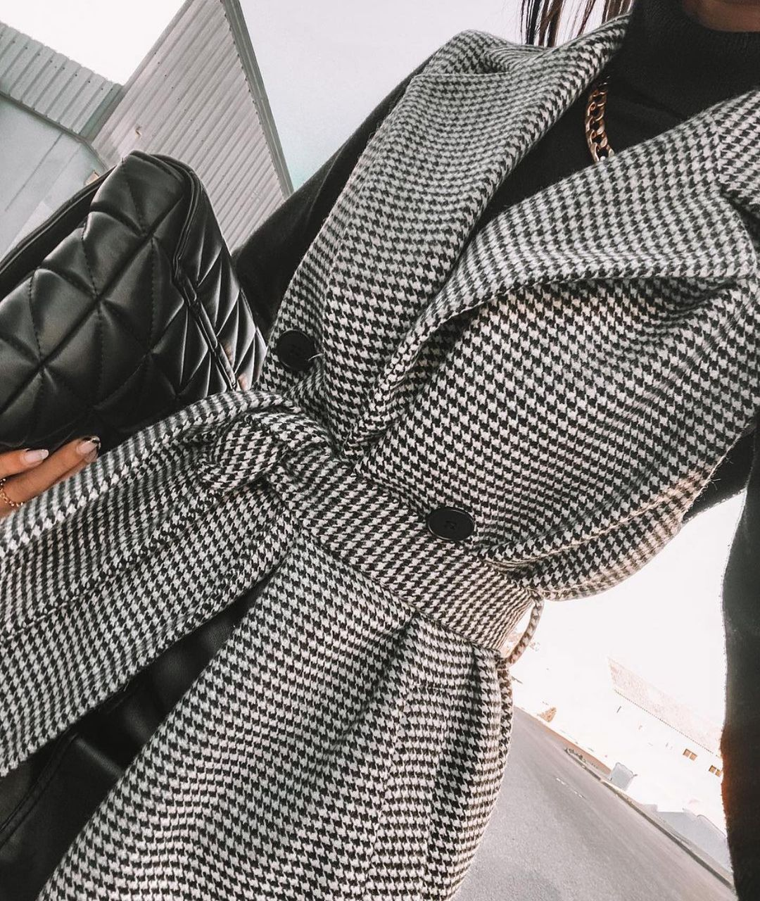gilet pied-de-poule de Zara sur zara.outfits