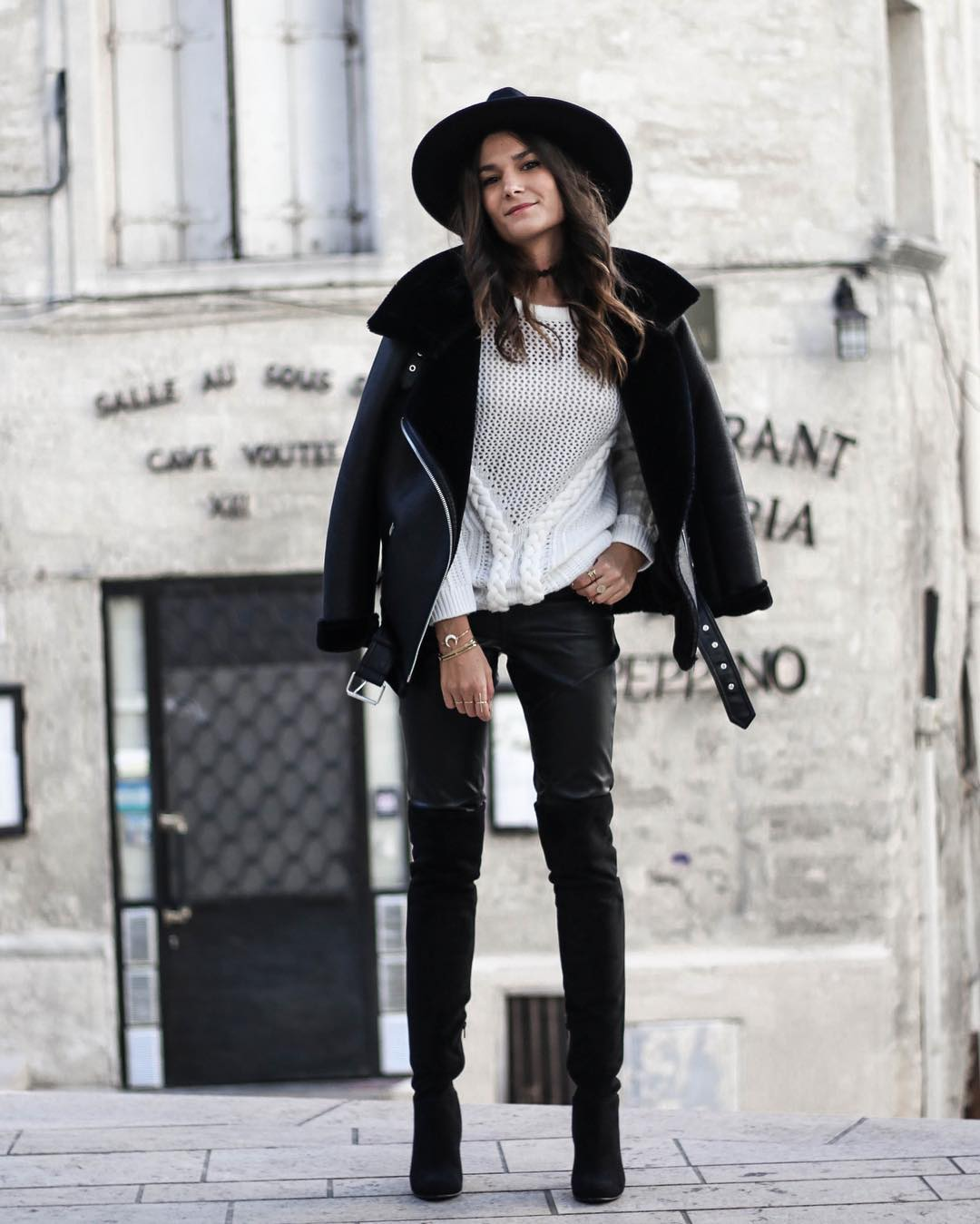 veste de motard bimatière de Zara sur junesixtyfive