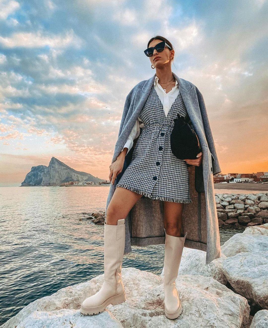 jupe style robe-salopette de Zara sur zara.outfits