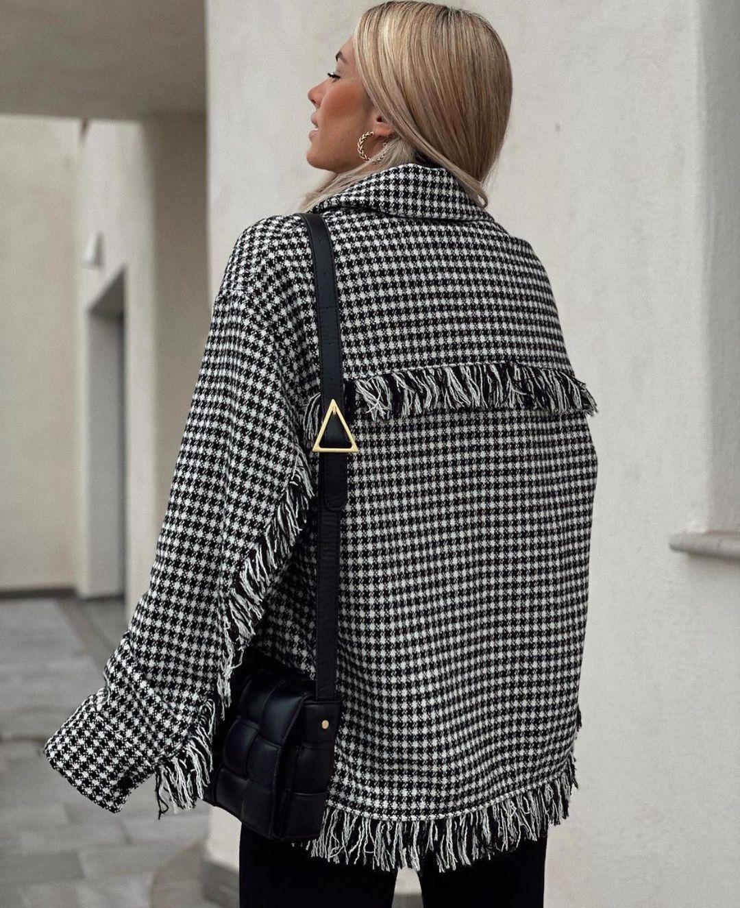 surchemise pied-de-poule de Zara sur zara.outfits