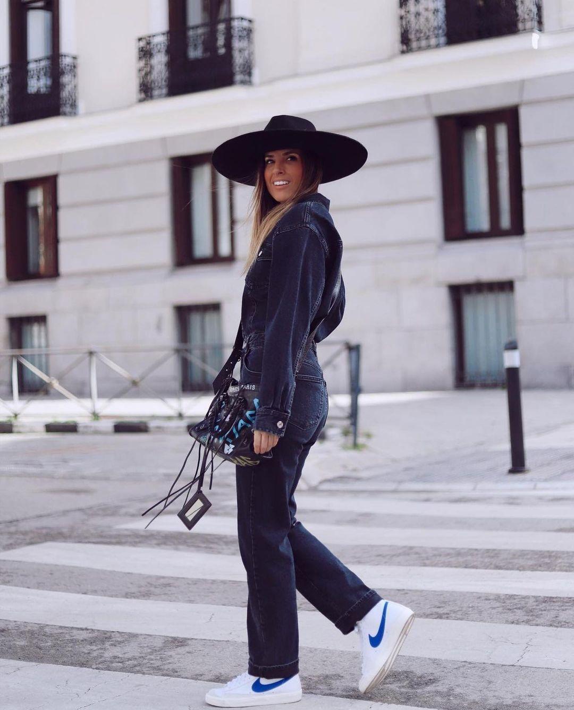 combinaison en jean longue de Zara sur zara.outfits