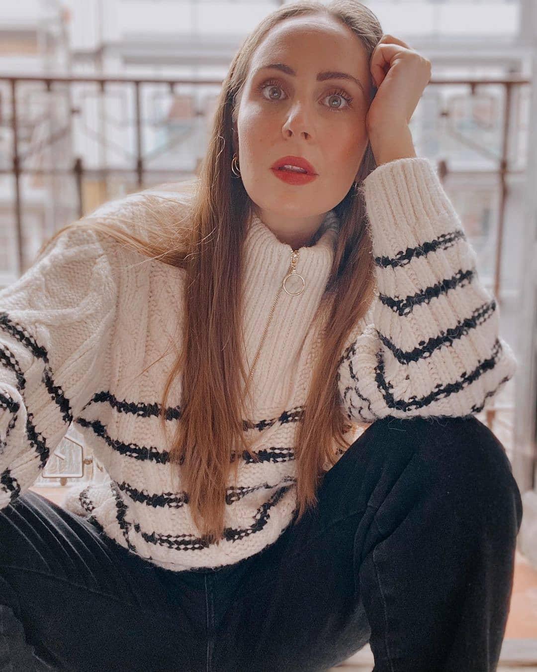 sweater zippor de Mango sur mango.outfits