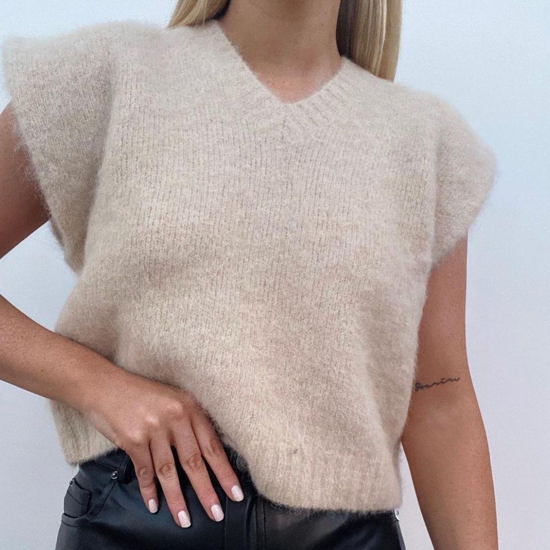 limited edition knit sleeveless vest de Zara sur zara.style.daily