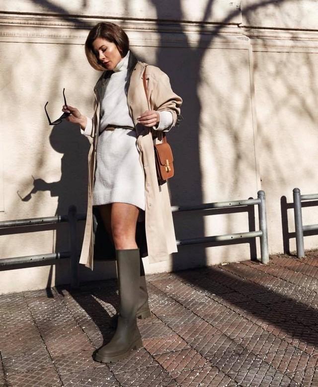 bottes plates gommées de Zara sur zara.mania