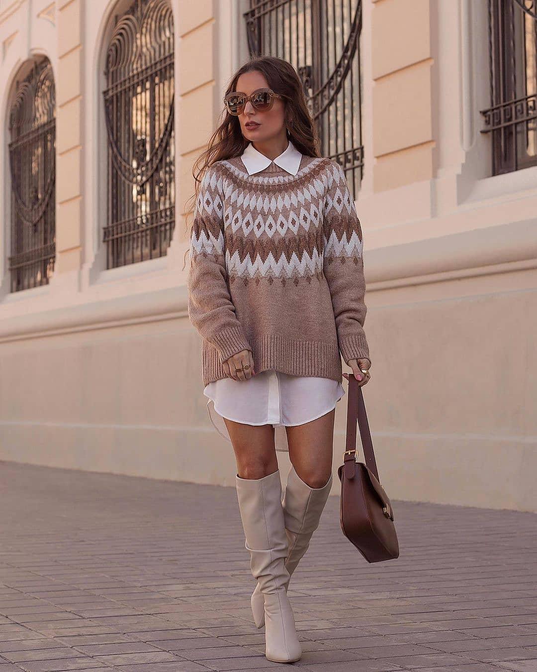 sweater lucille de Mango sur mango.outfits