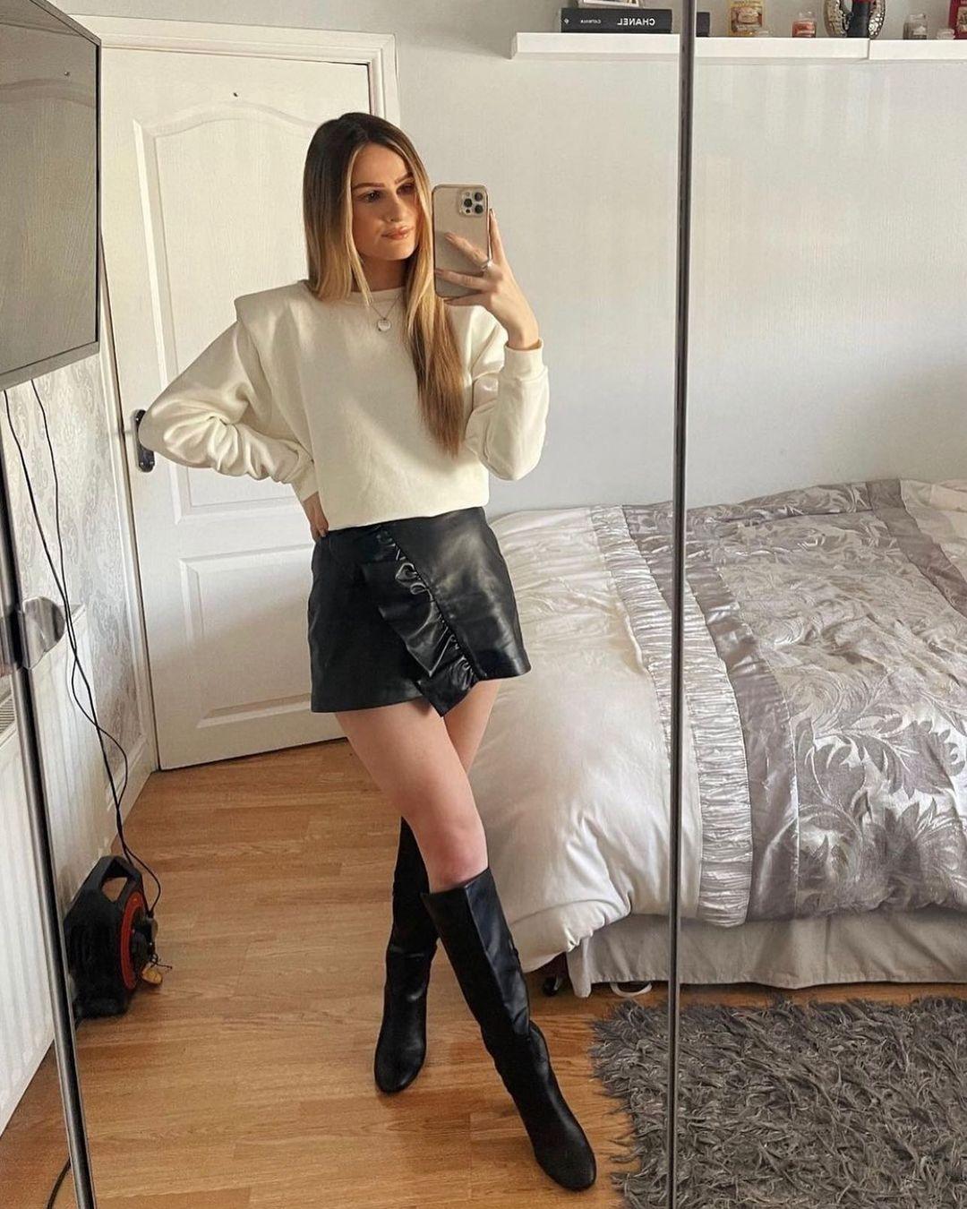 flounce-trimmed short skirt de H&M sur hm.addicted