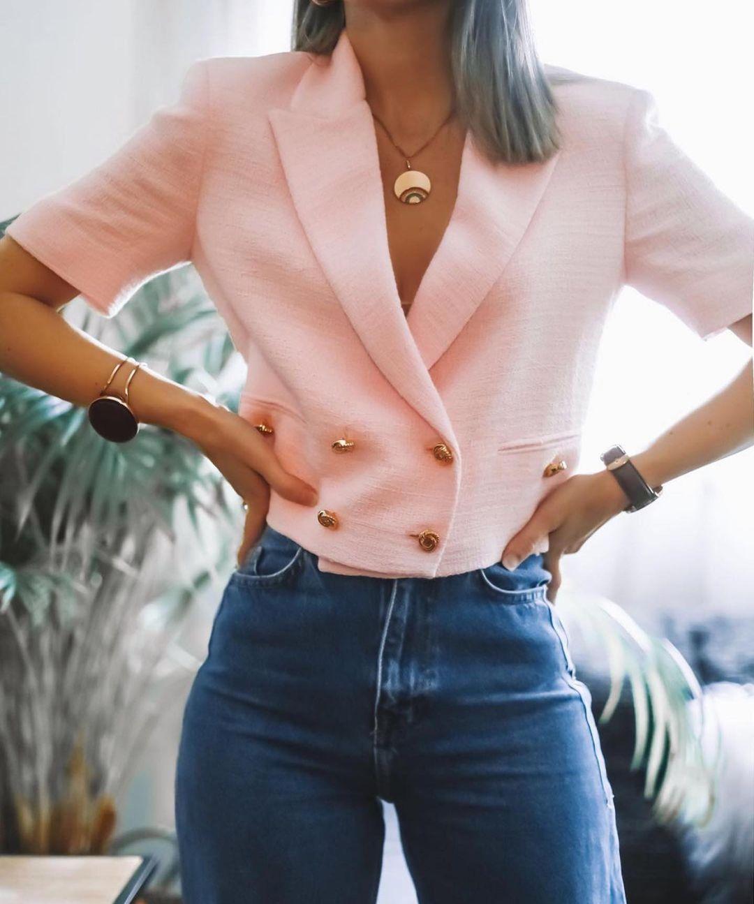 veste structurée à boutons de Zara sur zara.outfits