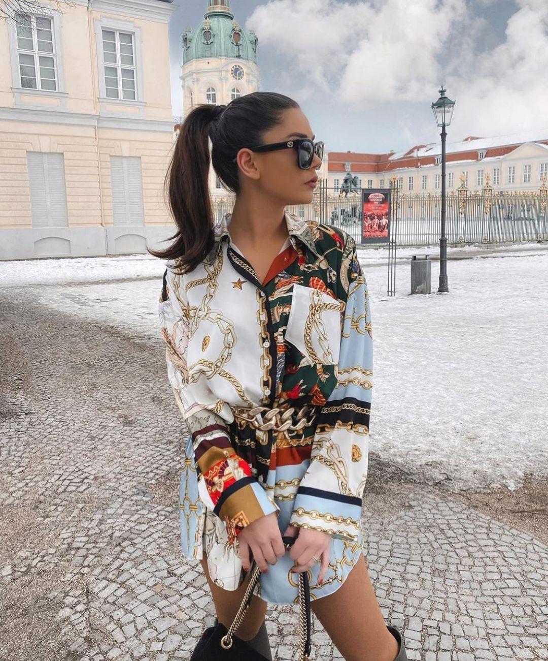 oversize patchwork shirt de Zara sur zarastreetstyle