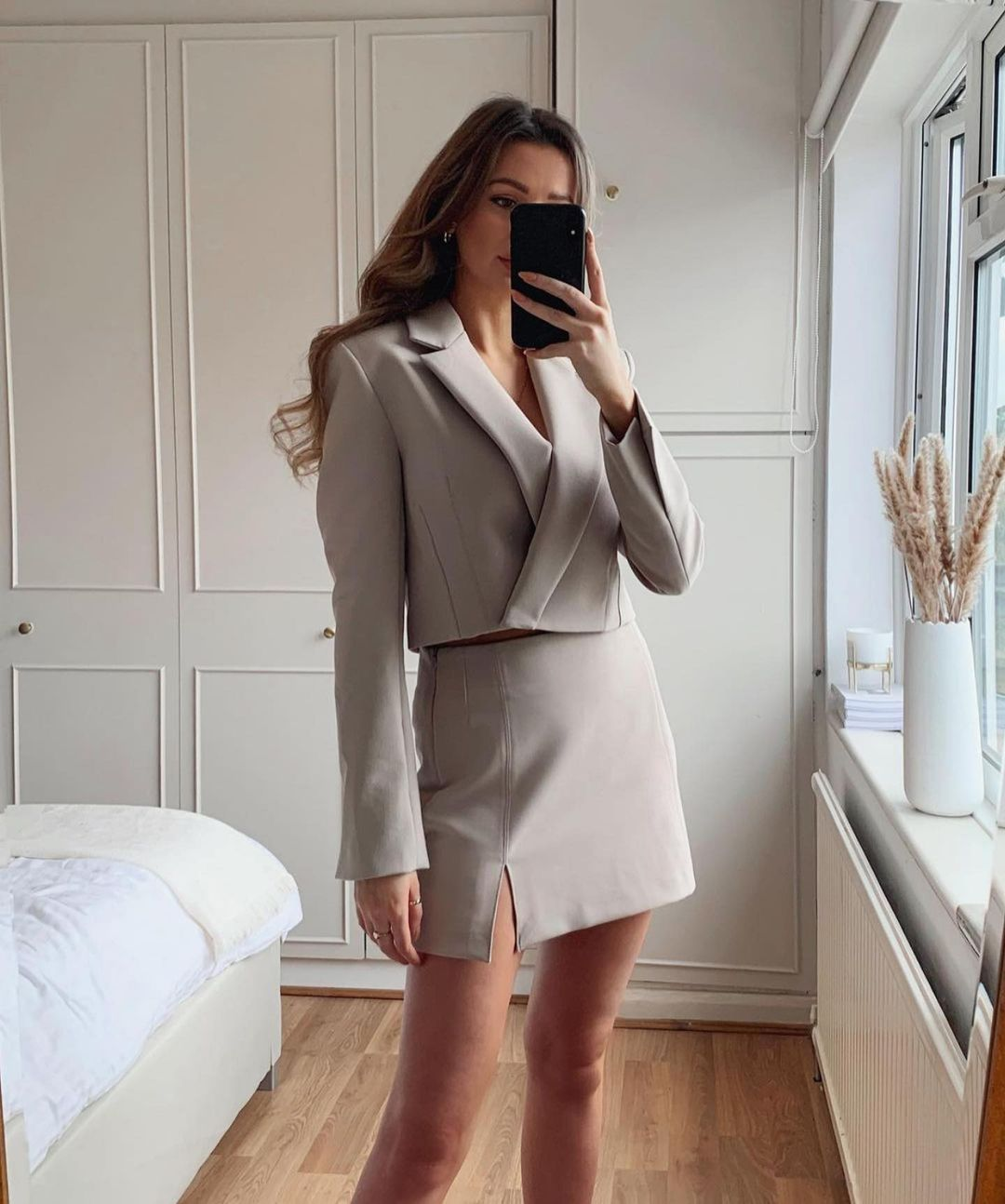 mini jupe fendue de Zara sur zara.outfits
