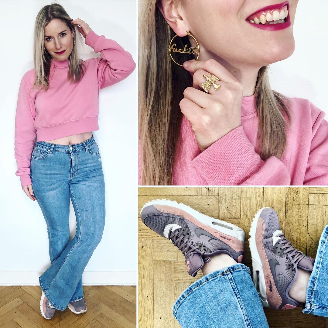 flared jeans de Bershka sur ixelloisechic