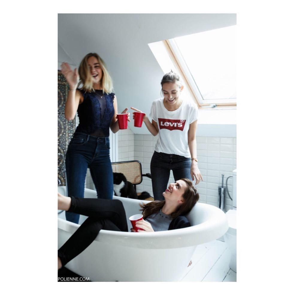 t-shirt levis blanc de Les Bourgeoises sur levis_belgium