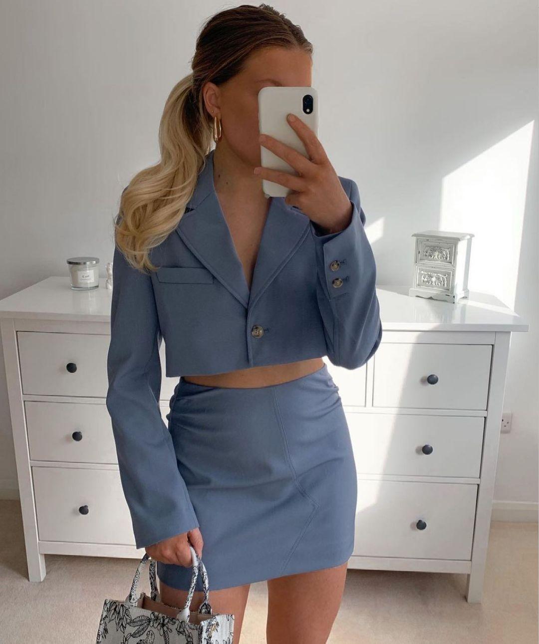 cropped blazer with stitching de Zara sur zara.style.daily