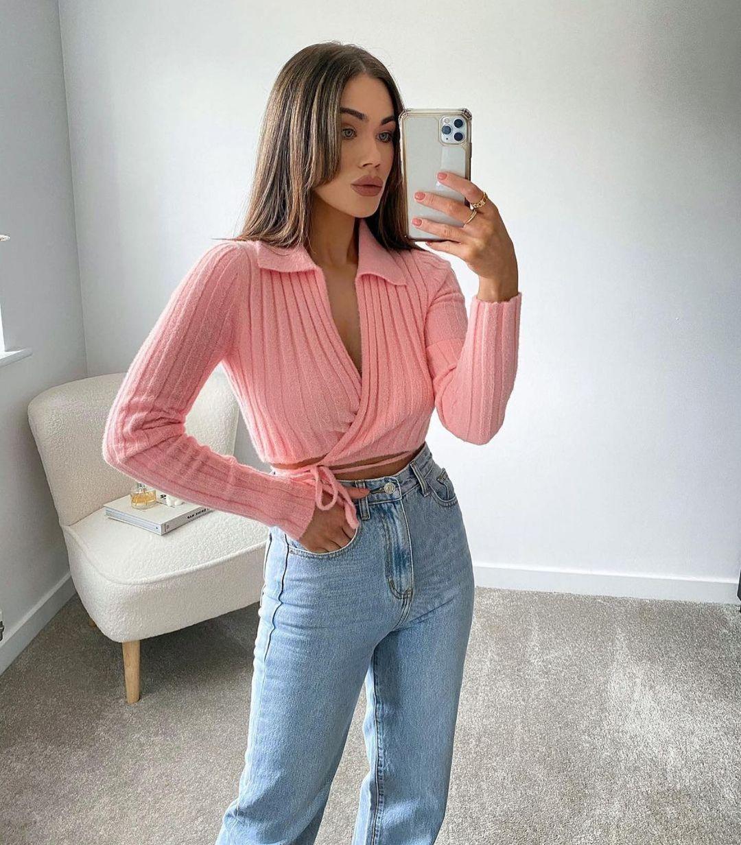 veste cropped cache-cœur de Zara sur zara.outfits