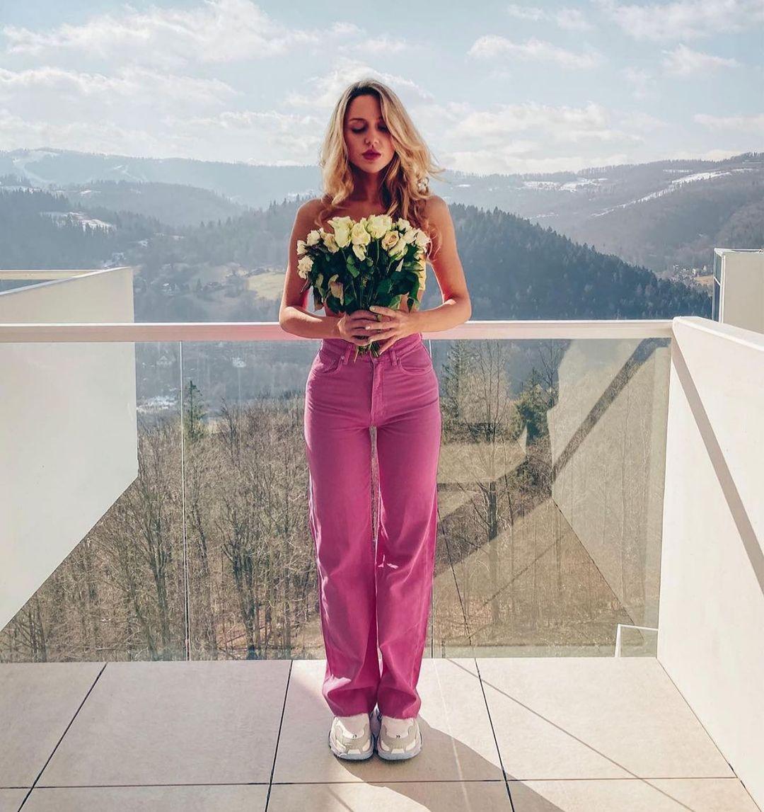 color wide leg full length jeans de Zara sur zaraaddiction