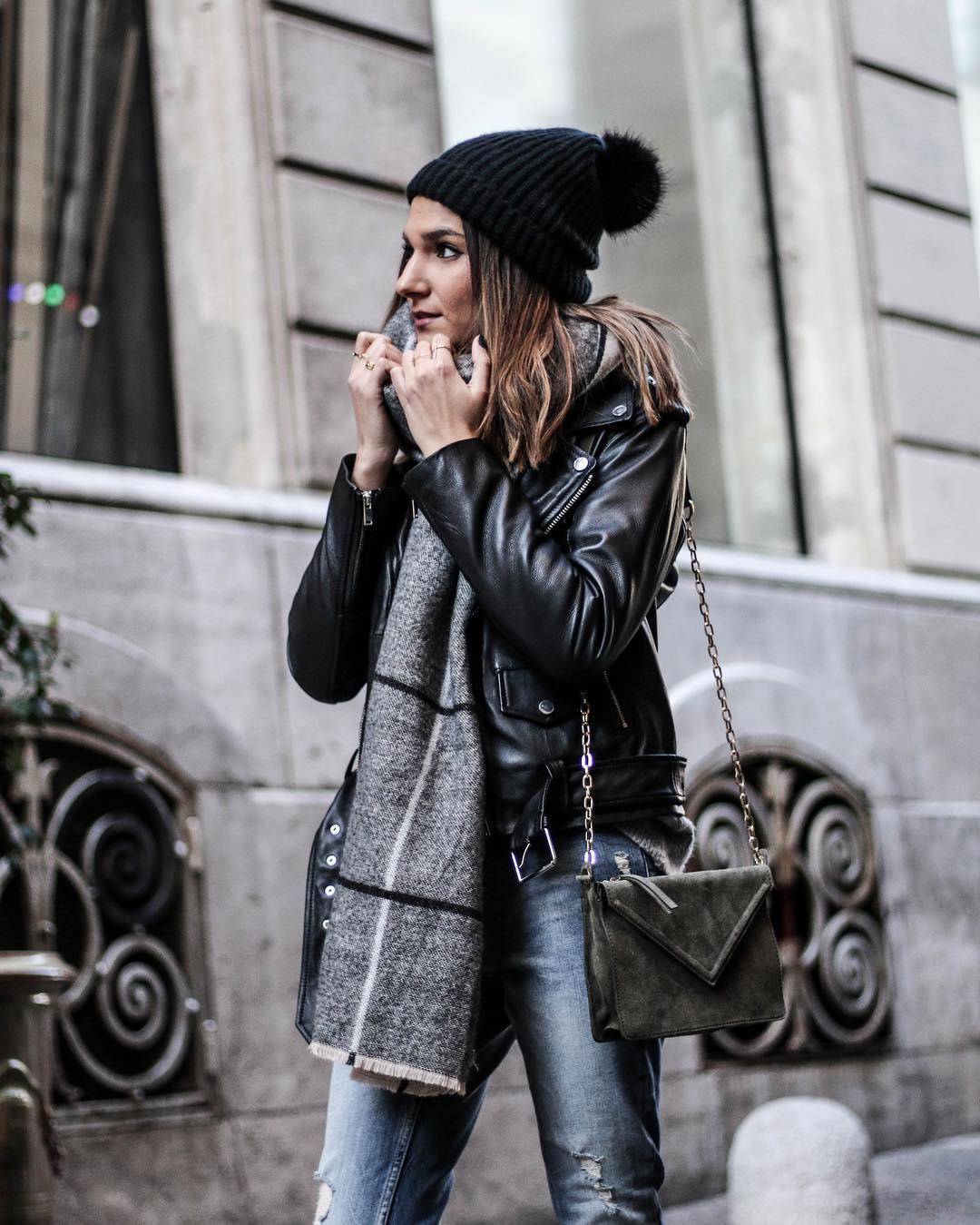 veste de motard en cuir de Zara sur junesixtyfive