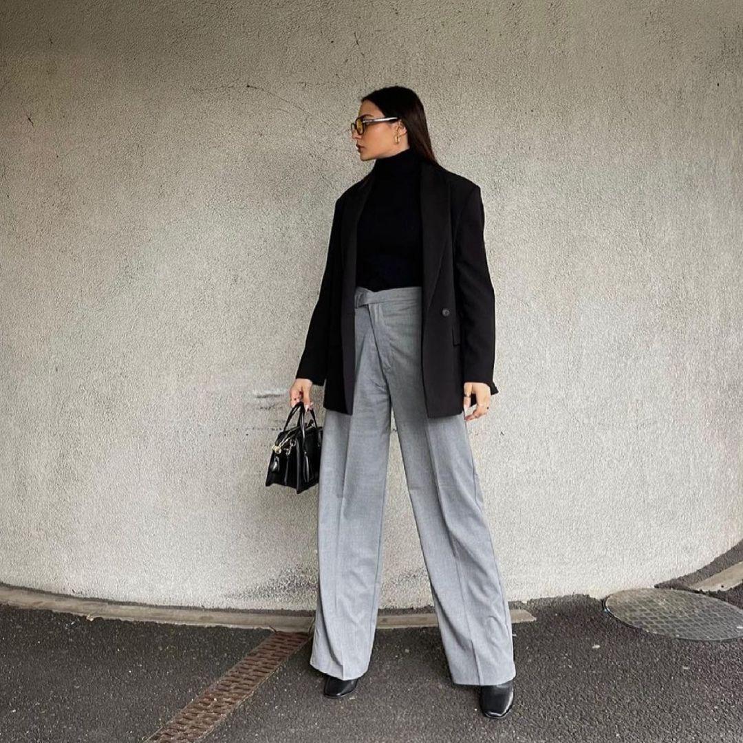 jacket with shoulder pads and slit de Zara sur zara.style.daily