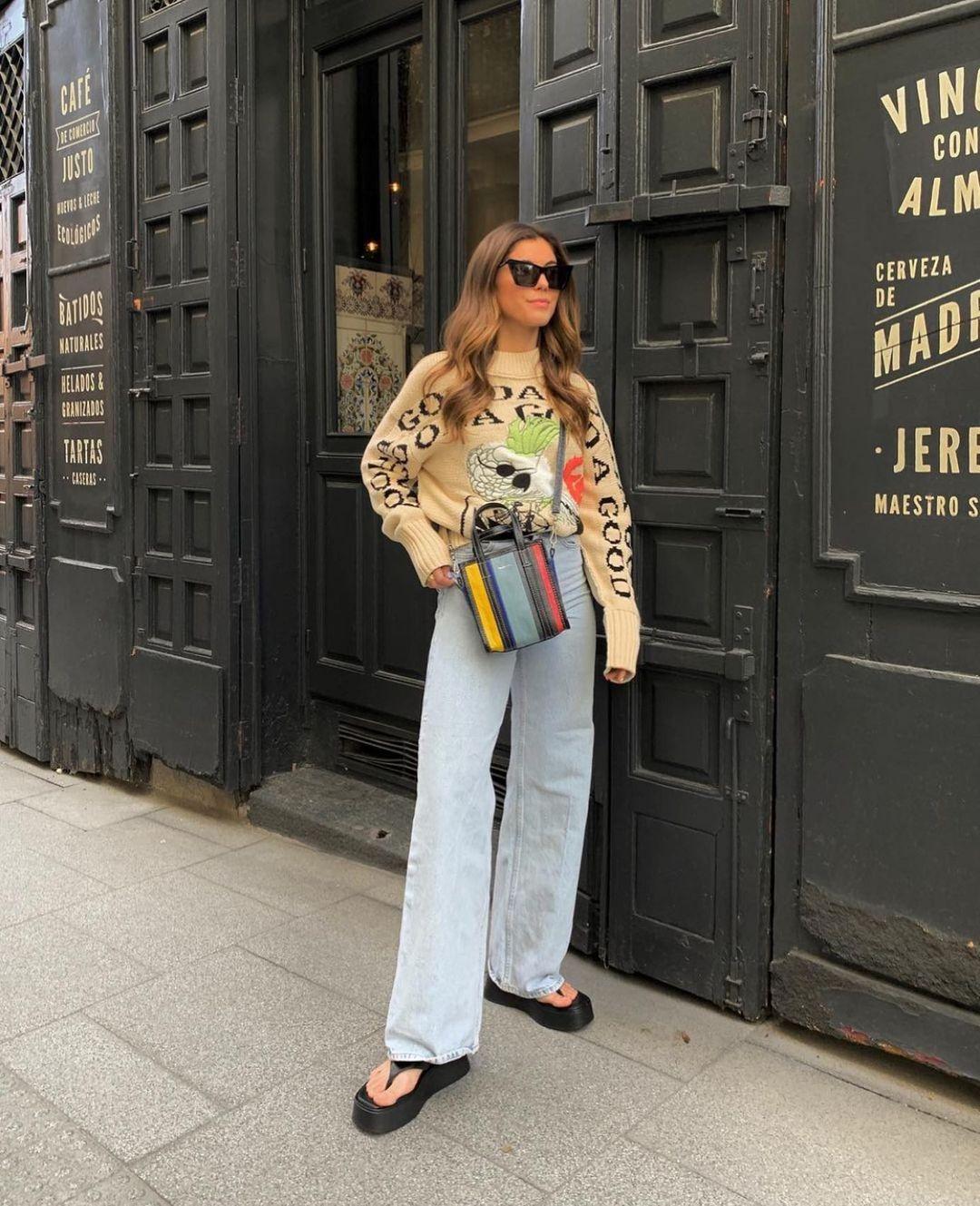jeans z1975 high rise straight de Zara sur zarastreetstyle