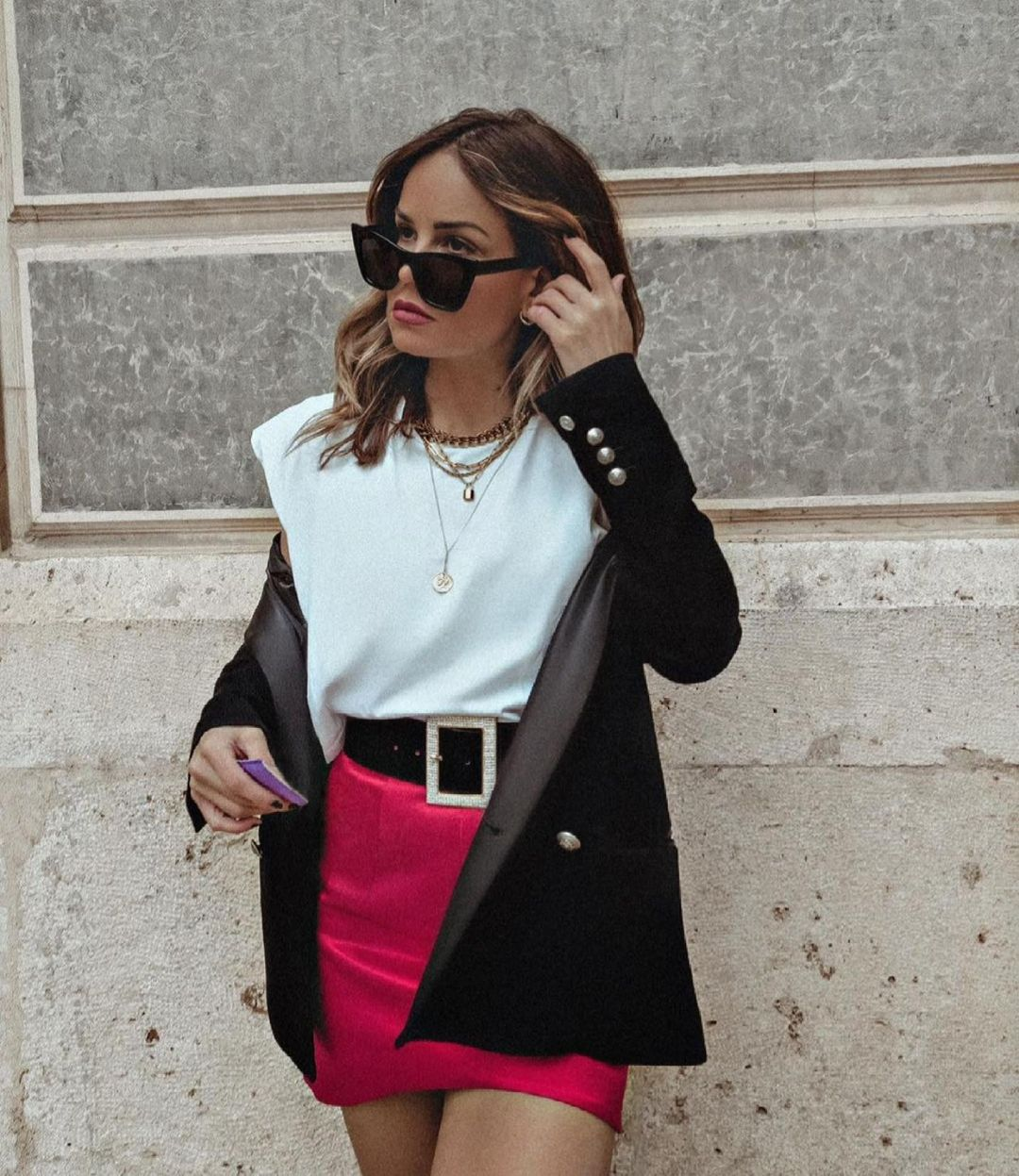 mini jupe satinée de Zara sur zara.outfits