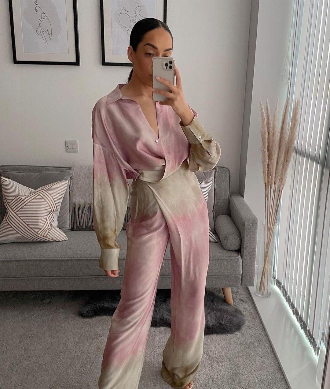 tie & dye wrap pants de Zara sur zaraaddiction