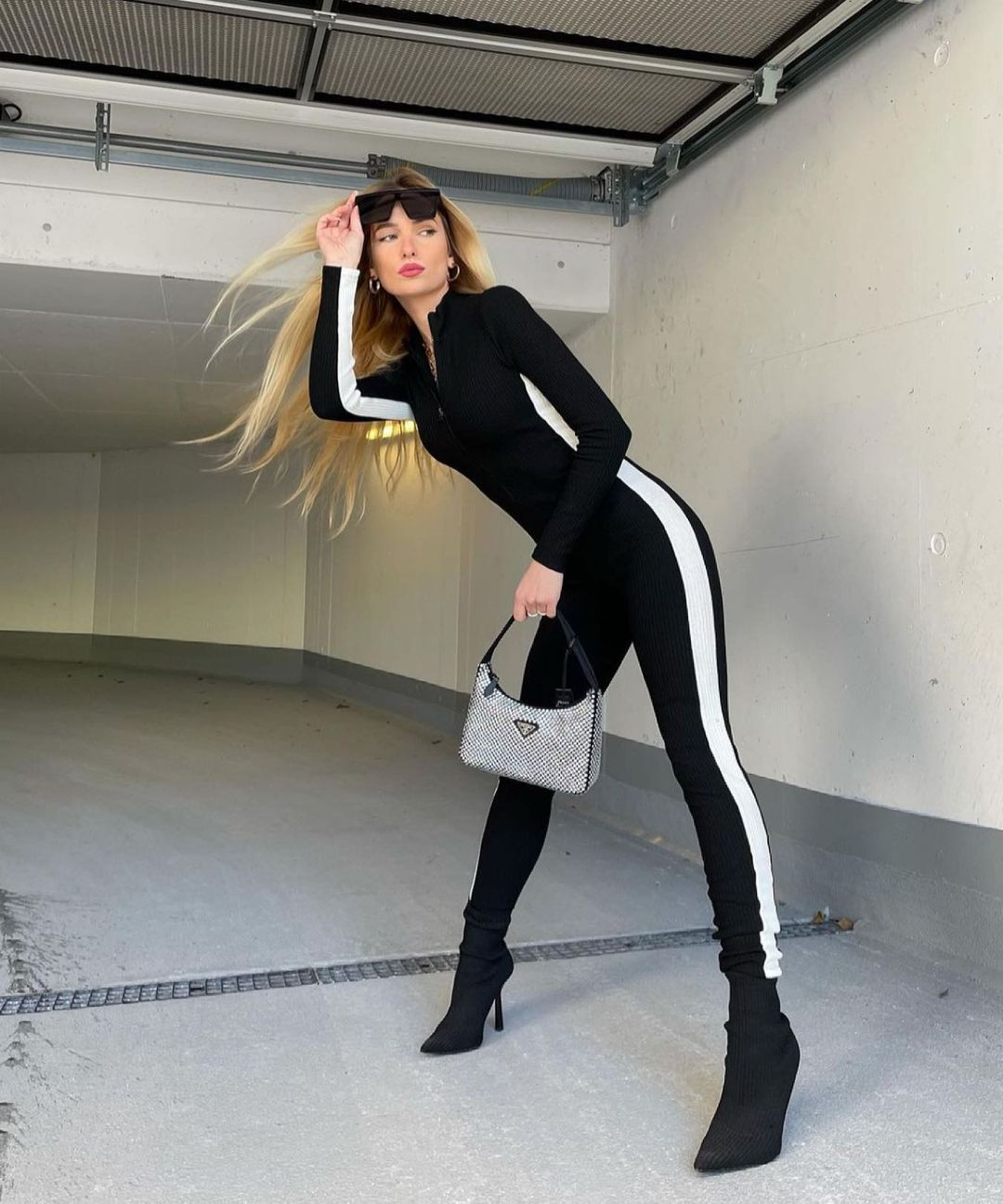 ribbed jumpsuit with side band de Zara sur zara.style.daily