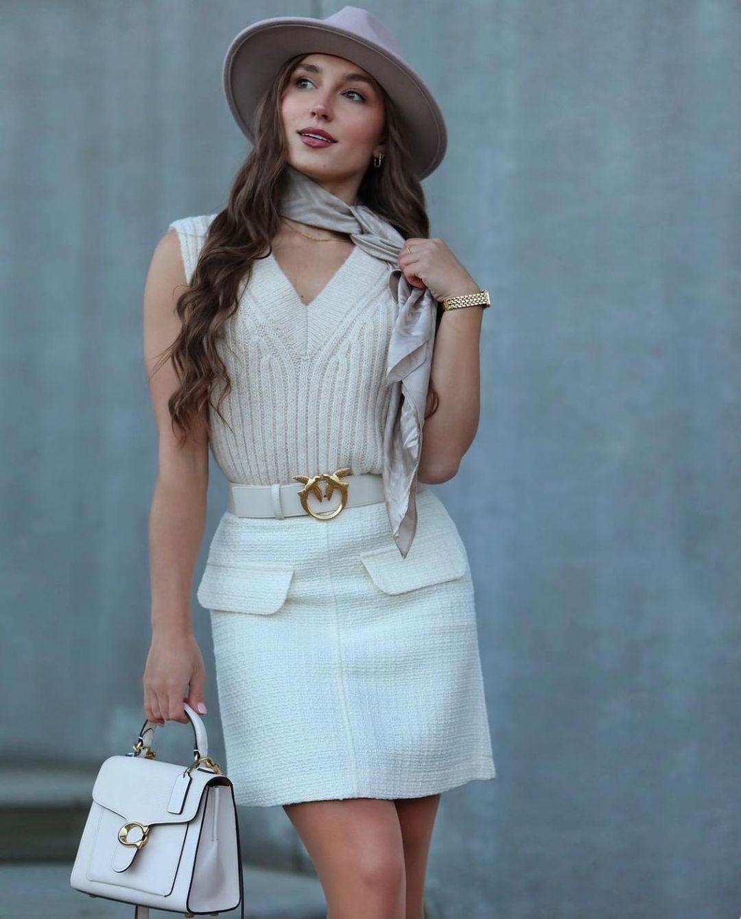 bouclé mini skirt de H&M sur hm.addicted
