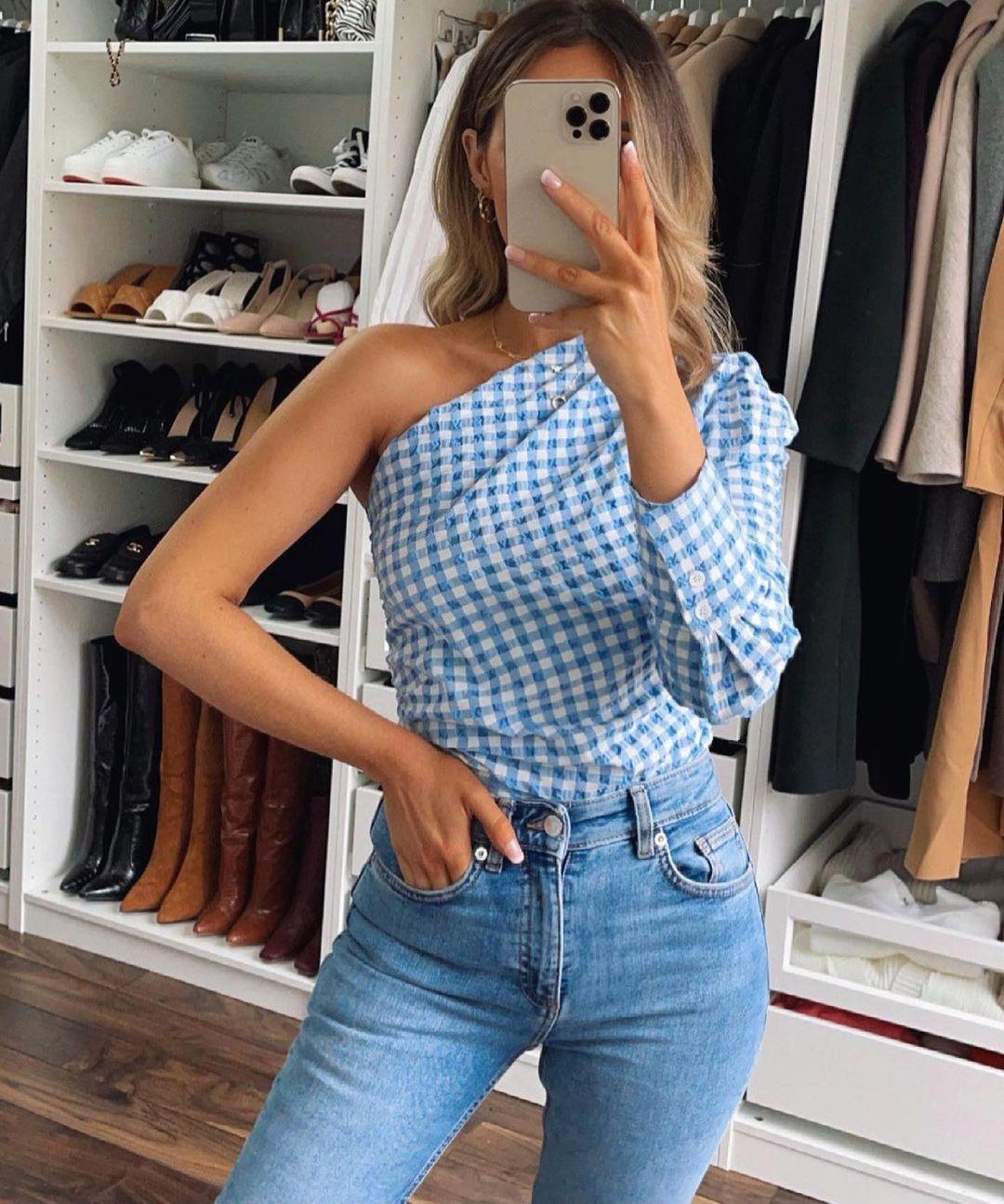 top asymétrique et drapé de Zara sur zara.outfits