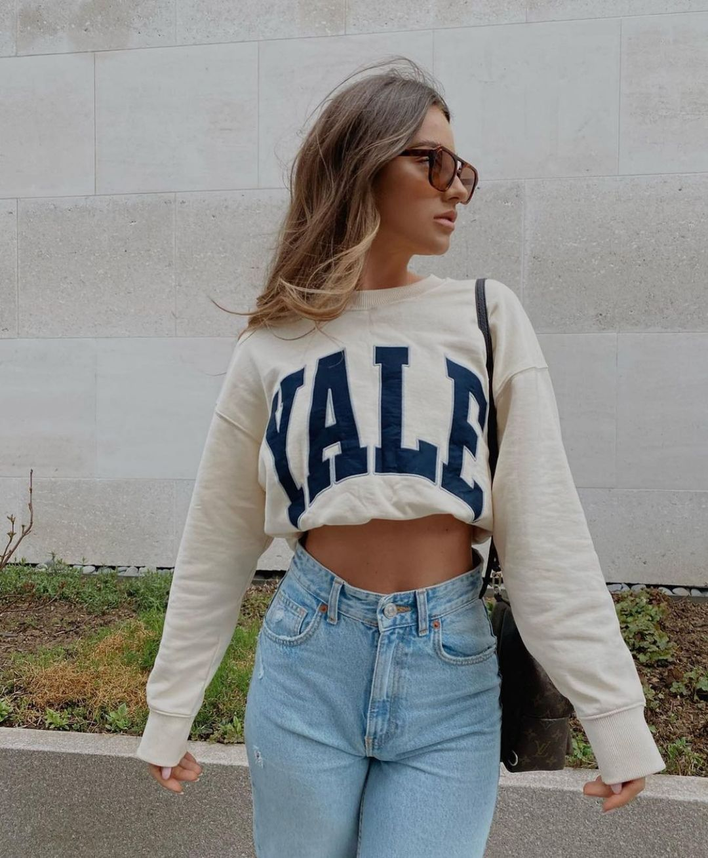 yale™ university sweatshirt de Zara sur zarastreetstyle