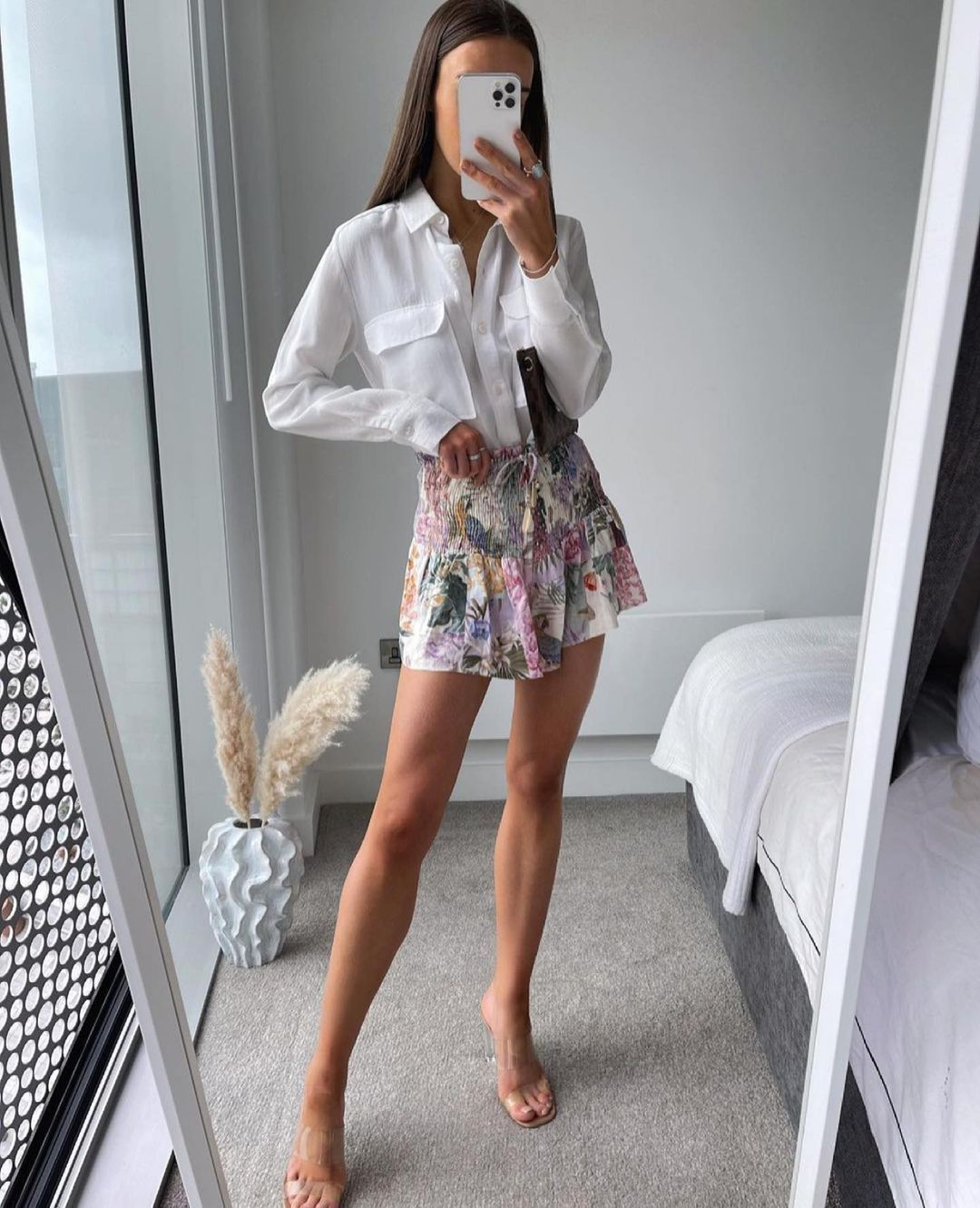 jupe imprimée à fronces de Zara sur zara.outfits