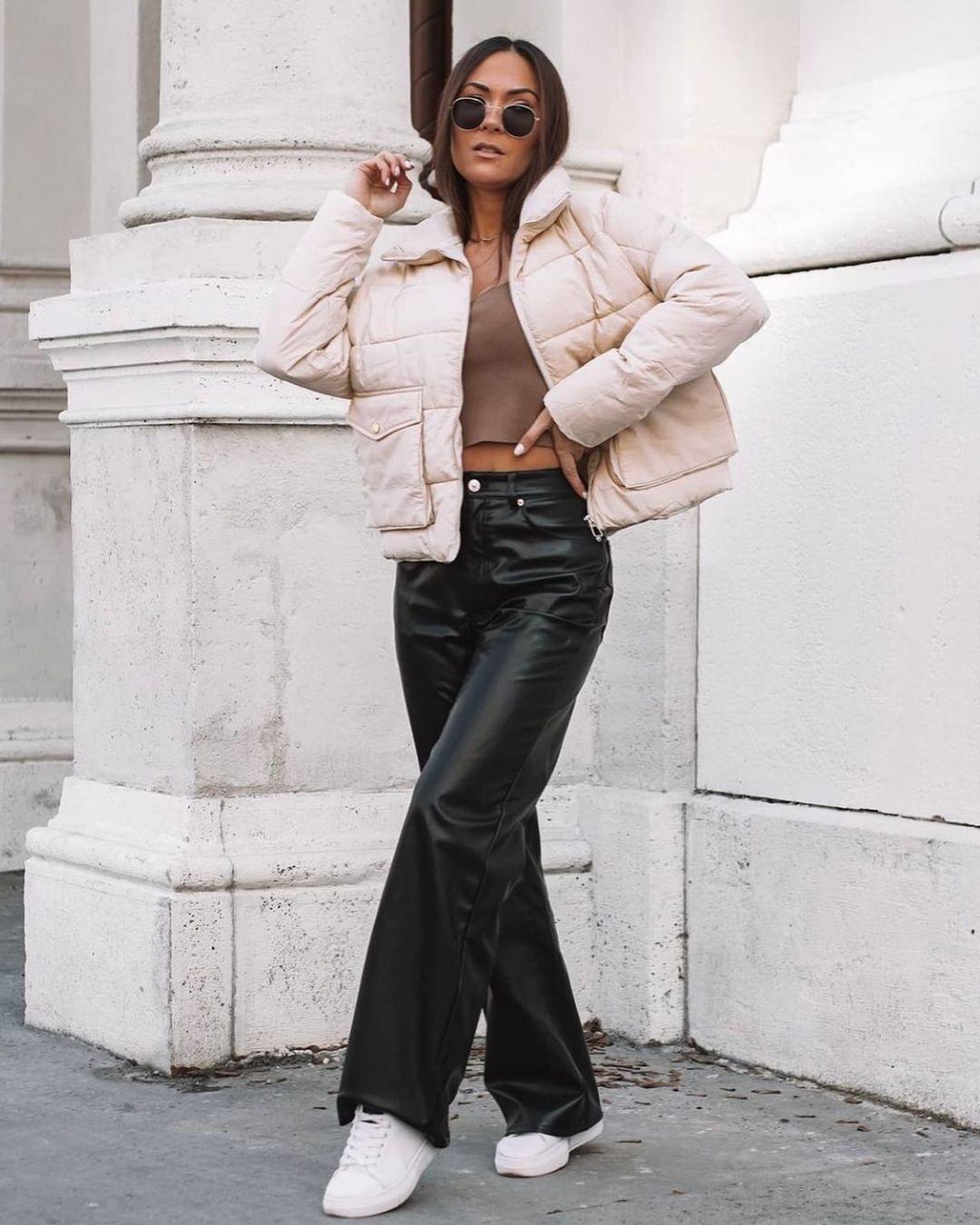 pantalon simili cuir de H&M sur hm.addicted