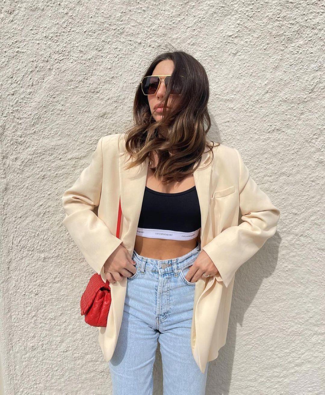 blazer coupe droite à poches de Zara sur zara.outfits
