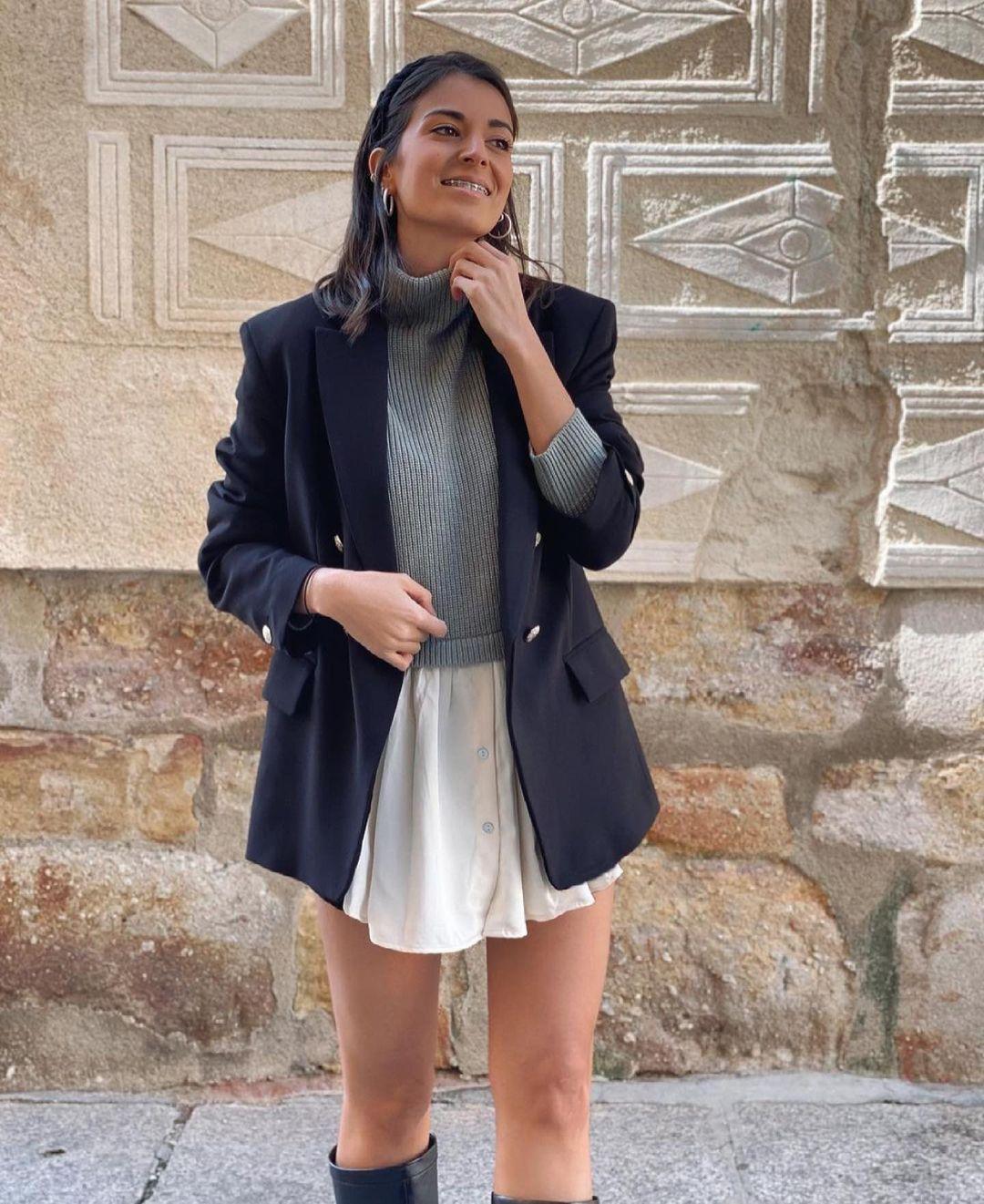 veste à boutons métalliques de Zara sur zara.outfits