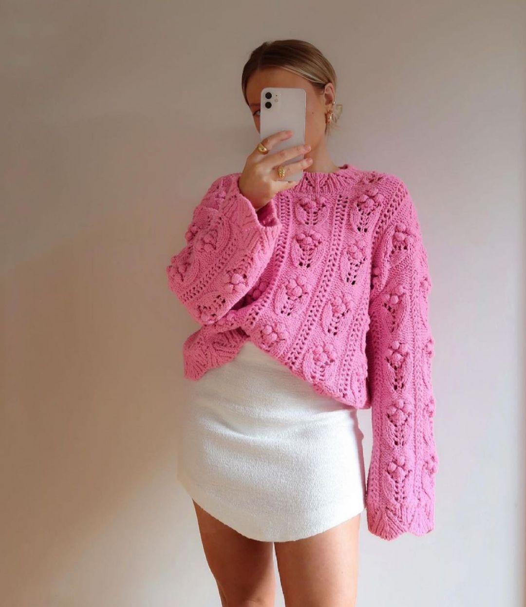 oversized knit sweater de Zara sur zara.style.daily