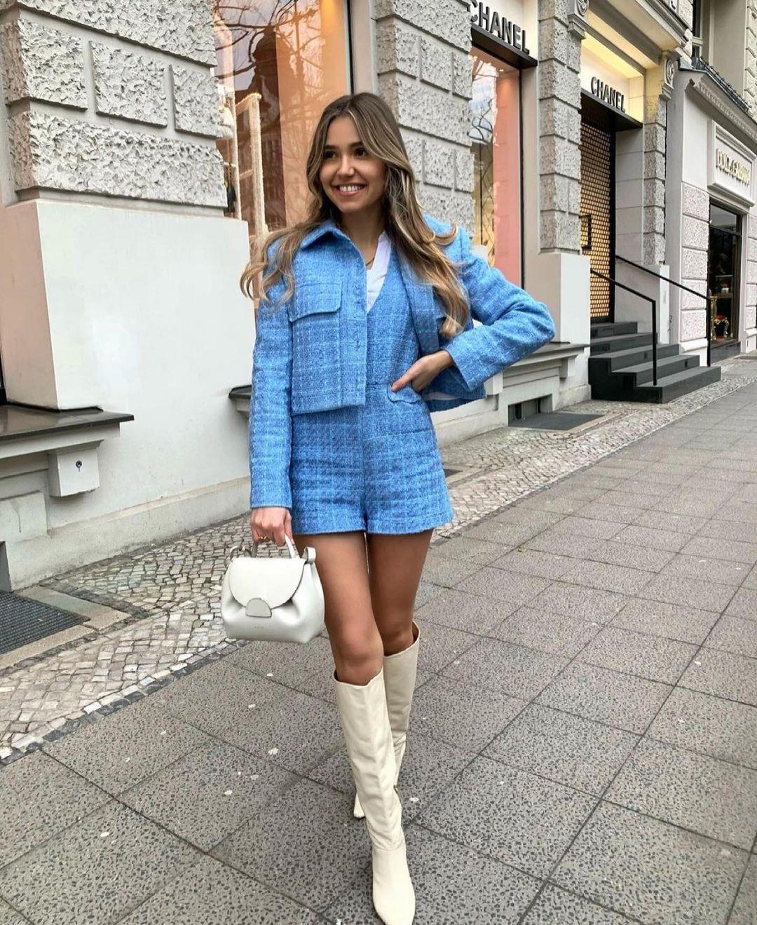 veste courte et structurée de Zara sur zara.outfits