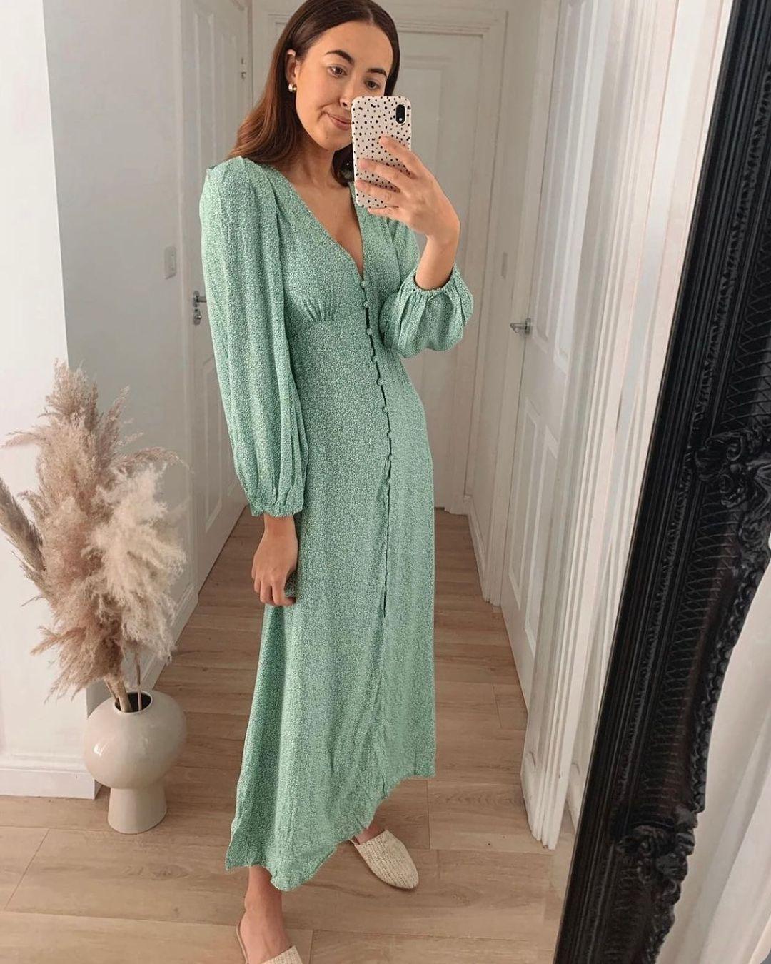 mama robe à manches bouffantes de H&M sur hm.addicted