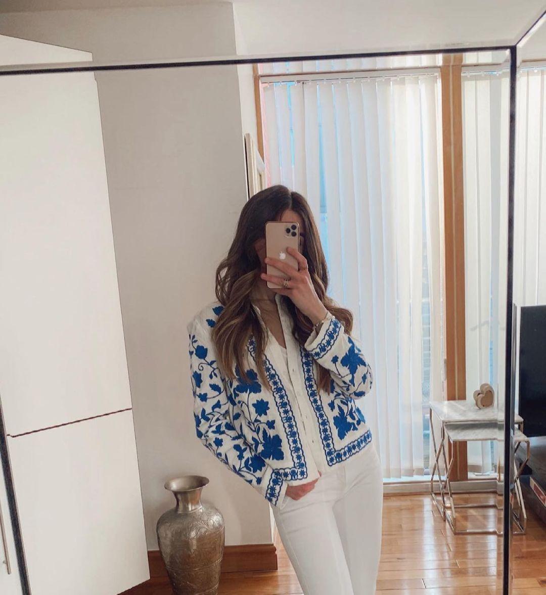 chemise brodée de Zara sur zara.outfits